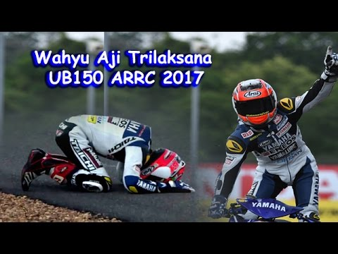 Sujud Syukur Wahyu Aji Trilaksana Start Buncit Jadi Juara UB150 ARRC 2017 Thailand
