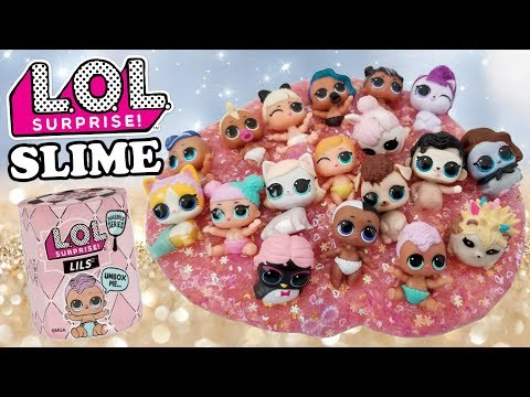 lol-surprise-slime- -l.o.l.-series-5-wave-2-full-set-in-glitter-slime- -complete-lils-collection