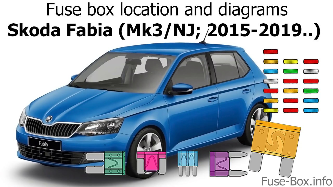 fuse box location and diagrams skoda fabia mk3 nj 2015 2019fuse box location and [ 1280 x 720 Pixel ]