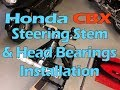 Honda CBX Frame Off Restoration - Part 26 - Steering Stem & Head Bearing Installations