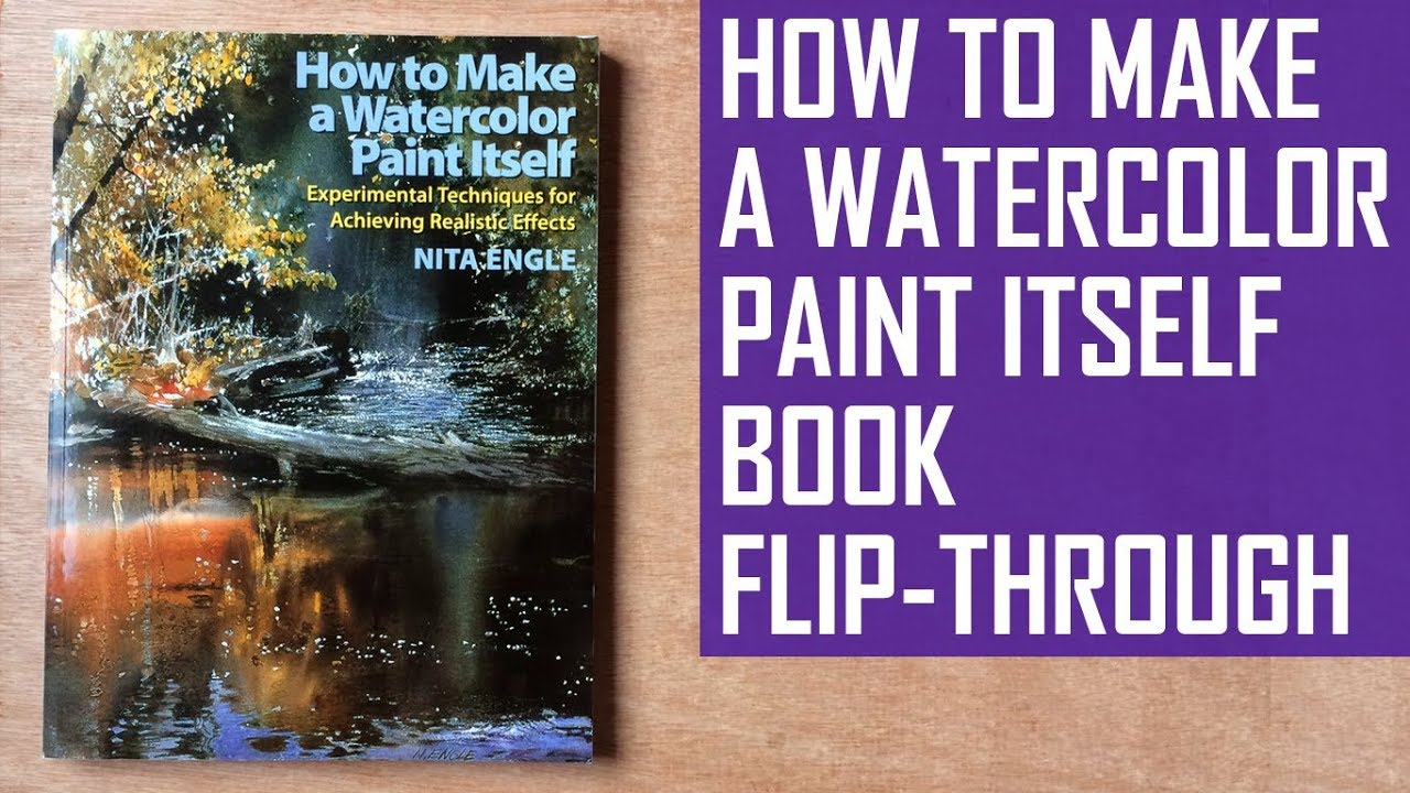 How To Make A Book Cover In Paint ~ How to make a watercolor paint itself book review flip through