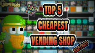 TOP 5 CHEAPEST VENDING SHOP [SSP/RSP] | Growtopia