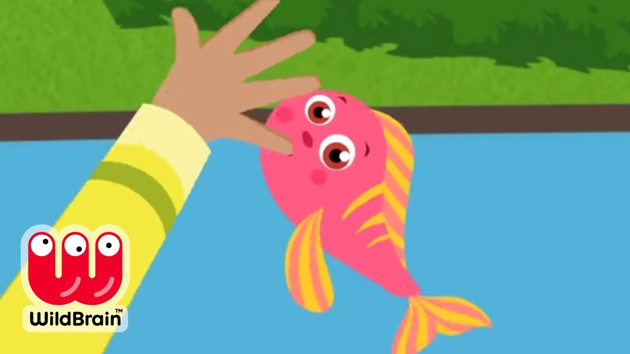 Learn nursery rhymes 12345 once i caught a fish alive for Once i caught a fish alive
