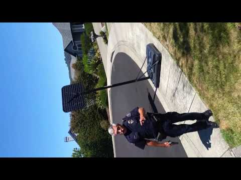 Cop pulled gun on a person for no reason standing on his own private property