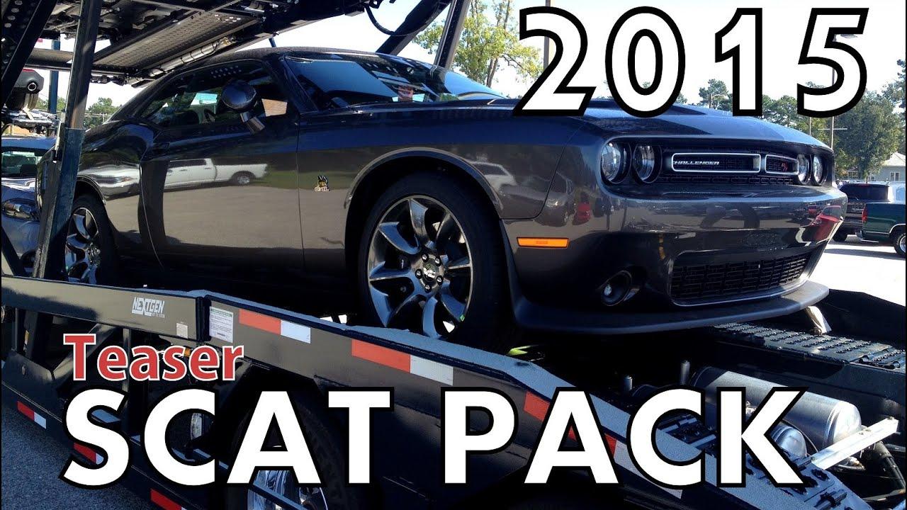 Challenger Scat Pack >> Teaser: 2015 DODGE CHALLENGER R/T SCAT PACK - YouTube