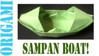 How To Make A (origami) Paper Sampan Boat - Tcgames [hd]!