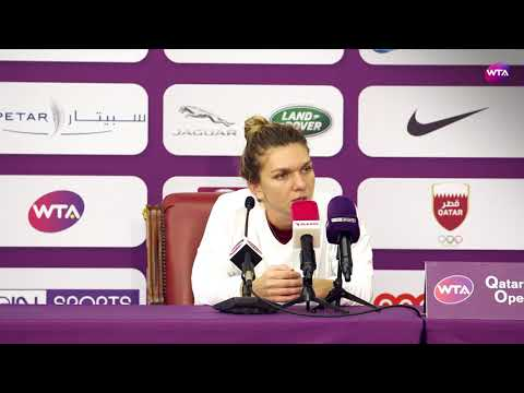 2018 Qatar Open press conference: Simona Halep fights through her foot injury