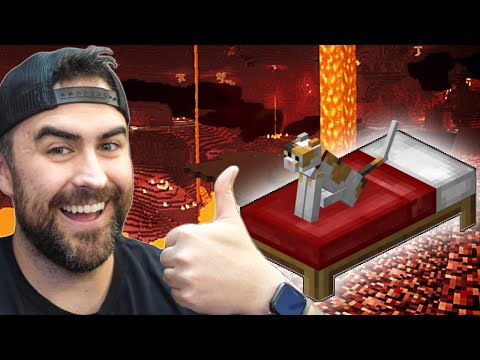 Sleeping In The Nether in Minecraft (RIP Kitty)