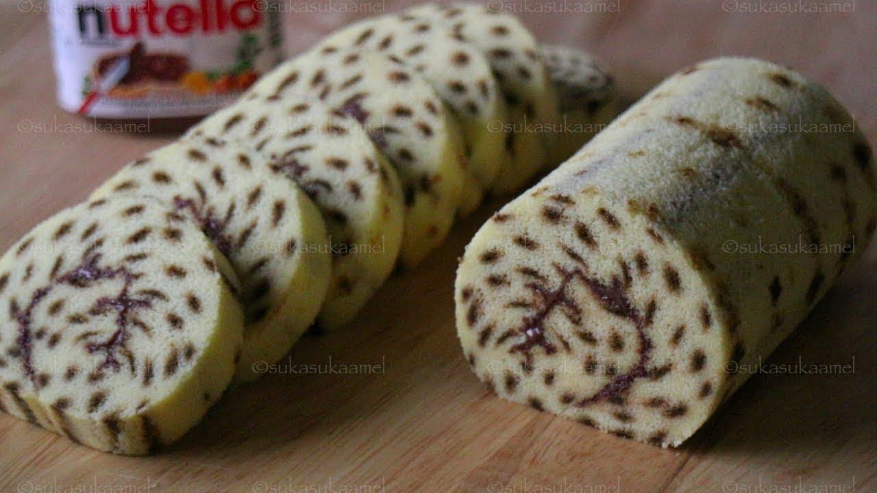 Cheetah Roll Cake Chocolate Black Forest | Suka Suka Amel