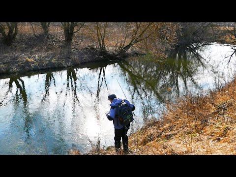 НАКОНЕЦ-ТО весна! Ловля щуки на малой реке весной. Рыбалка на спиннинг в Подмосковье. Март 2020.