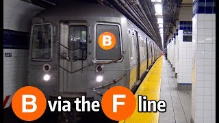 ⁴ᴷ B Trains Running via the F Line to Coney Island