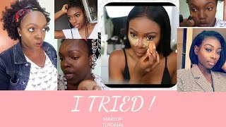 I TRIED FOLLOWING PATRICIA BRIGHT MAKEUP TUTORIAL LMAO WITH ALL THE MAKEUP I HAD