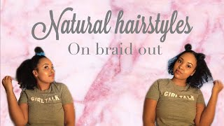 Natural hairstyles on braid-out❤️