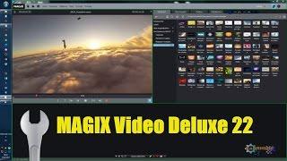 MAGIX Video Deluxe 22 Plus = Автоматический монтаж видео