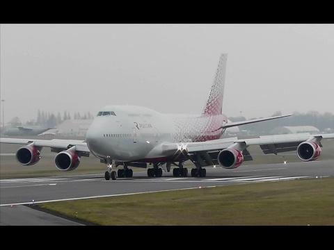 EMERGENCY LANDING | Rossiya Airlines Boeing 747 at Cambridge Airport