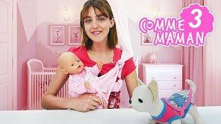 Vidéo en français pour enfants. Comme maman № 3.Bébé Born Emily en promenade