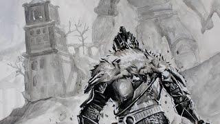 Sketching/Drawing a Medieval Knight - Dark Souls