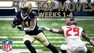 Top Moves After One Quarter Mark! (Jukes, Stiff Arms, & Hurdles) | NFL Highlights