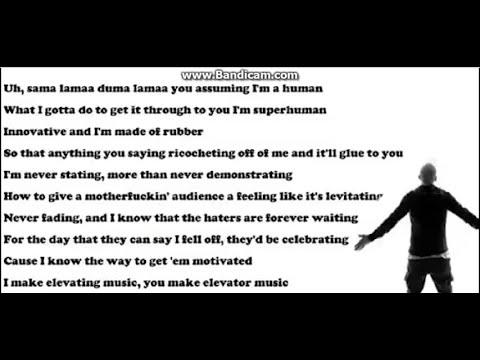 Eminem'den Rap Rekoru (16 Saniyede 101 Kelime)