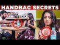 """Only SINGAPORE CASH "" - VJ Diya Menon Handbag Secrets Revealed | VJ Ashiq"