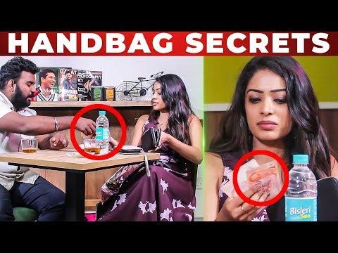 'Only SINGAPORE CASH ' - VJ Diya Menon Handbag Secrets Revealed | VJ Ashiq