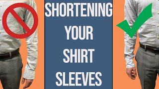 How To Shorten Your Dress Shirt Sleeves | Tailor Teaches