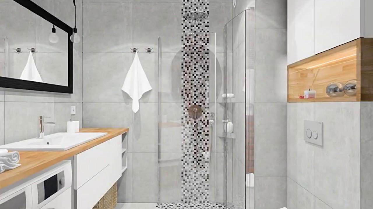 Aranżacja łazienki Z Odpływem Liniowym