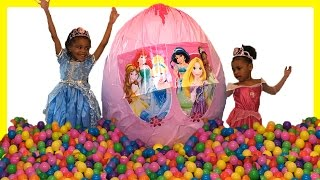 Video 10 Disney Princess Toddler Doll Toys GIANT Surprise Egg + Ball Pit Elsa Ariel Cinderella Tinker Bell download MP3, 3GP, MP4, WEBM, AVI, FLV November 2017