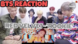 BTS reaction To Red Velvet - 'Rookie'