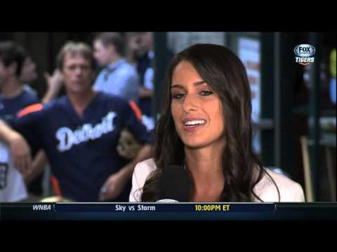 Angela Announced as FOX Sports Detroit Girl on Tigers Live