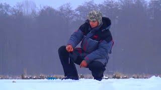 Рыбалка зимой. Ловля окуня на безмотылку от Михалыча(Супер уловистая удочка на карпа и карася. Боковые кивки, мормышки. Заказываем здесь http://mikhalych.com/ Сумасшедши..., 2015-01-08T08:46:37.000Z)