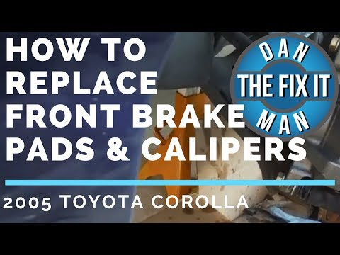 HOW TO REPLACE FRONT BRAKE PADS & CALIPERS – 2005 TOYOTA COROLLA – DIY