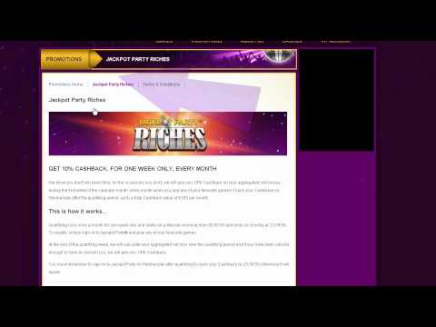 JACKPOT PARTY 'HOW TO GET BONUSES, REWARDS AND PROMOTIONS'  VIDEO TUTORIAL