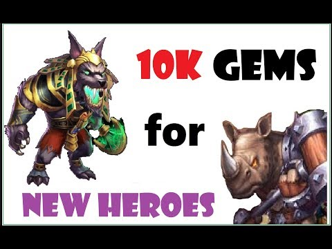 Quick 10k Gem Rolls For New Heroes Castle Clash