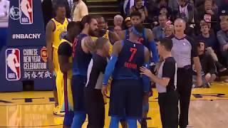 Thunder's Carmelo Anthony Gets Into It With KD, Draymond