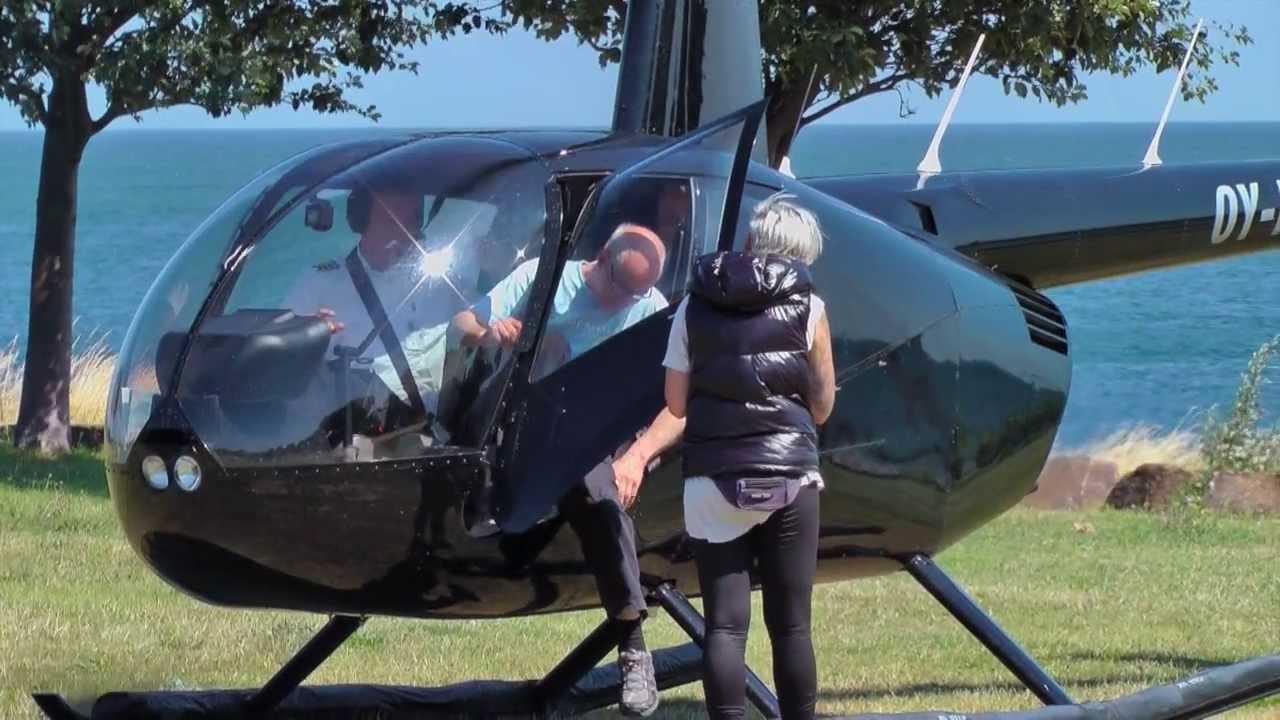 Helikoptertur Bornholm, Danmark - YouTube