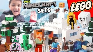 2015 LEGO Minecraft Sets & Toys! The Dungeon, Snow Hideout, Nether Fortess & Desert Outpost!