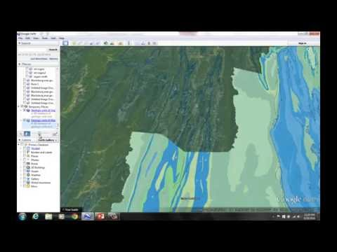 Valley and Ridge topography 1: Google Earth and geologic maps
