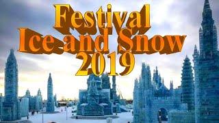 Фестиваль льда и снега Харбин 2019 Световое 3D шоу / Harbin Ice and Snow Festival 2019 (HD)
