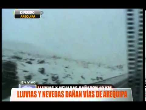 Lluvias y nevadas dañan vías de Arequipa