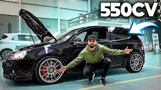 *550cv* num VW GOLF V GTI !!!! *RIDÍCULO*