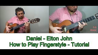 DANIEL ELTON JOHN HOW TO PLAY FINGERSTYLE TUTORIAL GUITAR LESSON