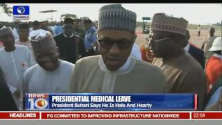 President Buhari Returns From UK After Vacation & Medical Treatment