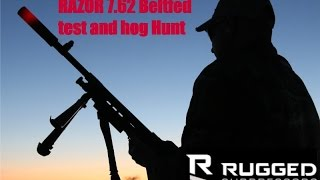 Rugged Suppressors Beltfed Machinegun Test and Hog Hunt