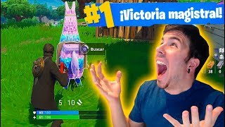 INCREIBLE VICTORIA! Fortnite: Battle Royale con LLAMA