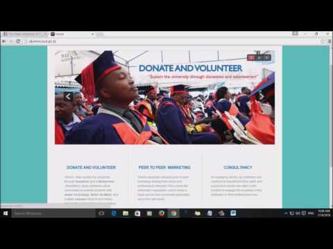 Open University  of Tanzania video programmes