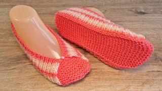 Следки «Розовая палитра» спицами 🎀 «Pink Color Palette» slippers knitting pattern