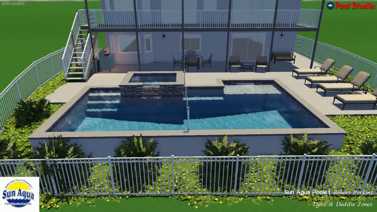 Custom Pool & Spa Design By Sun Aqua Pools - YouTube