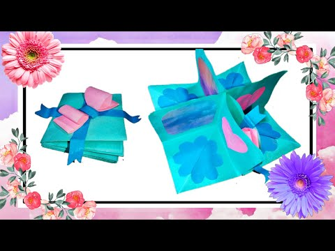 Dream Craft - Paper Fold Card (Valentine's Special) | Explosion Box Ideas | Perfect Gift