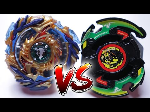 BEYBLADE BATTLE | Drain Fafnir (BURST) VS Black Dranzer (PLASTIC) - Battle of Generations